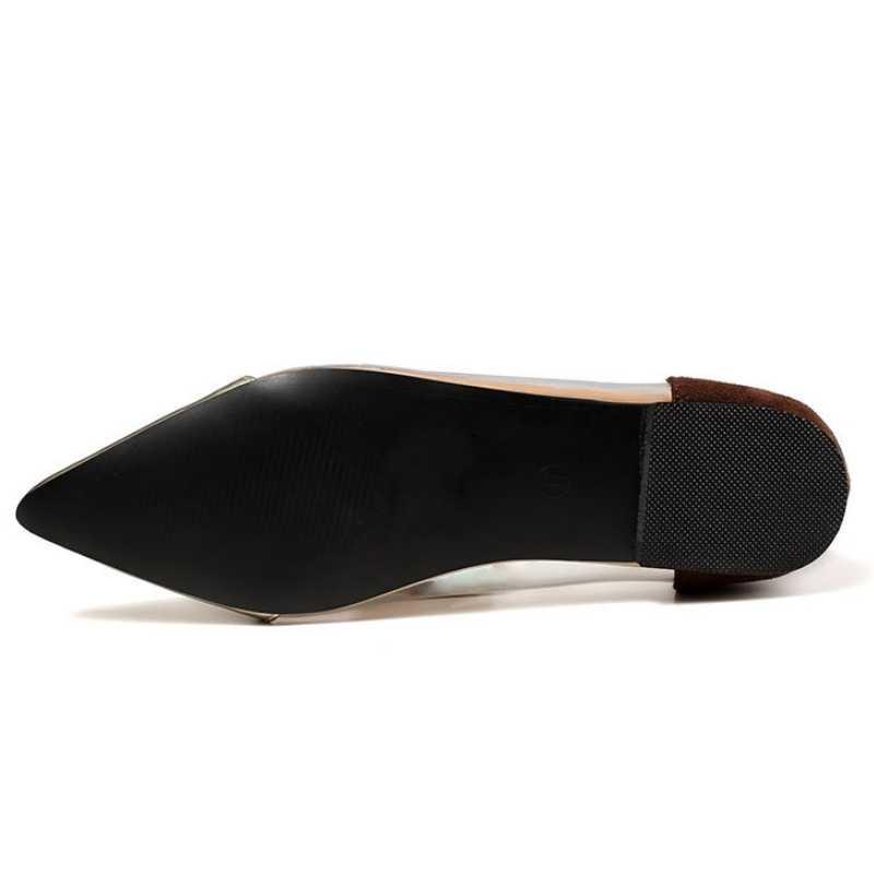 2020 Nieuwe Puntschoen Flats Vrouwen Zomer Clear Schoeisel Loafers Plus Size 42 Transparant Casual Schoenen Slip Op Kantoor Platte schoenen