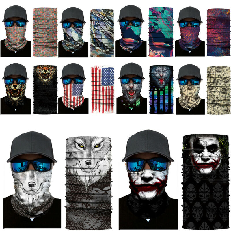 TTlove Balaclavas Scarf Cycling Face Scarfs Breathable Seamless Half Face Tube Skeleton Scarfs for Motorcycle Outdoor Riding and for Hallowmas