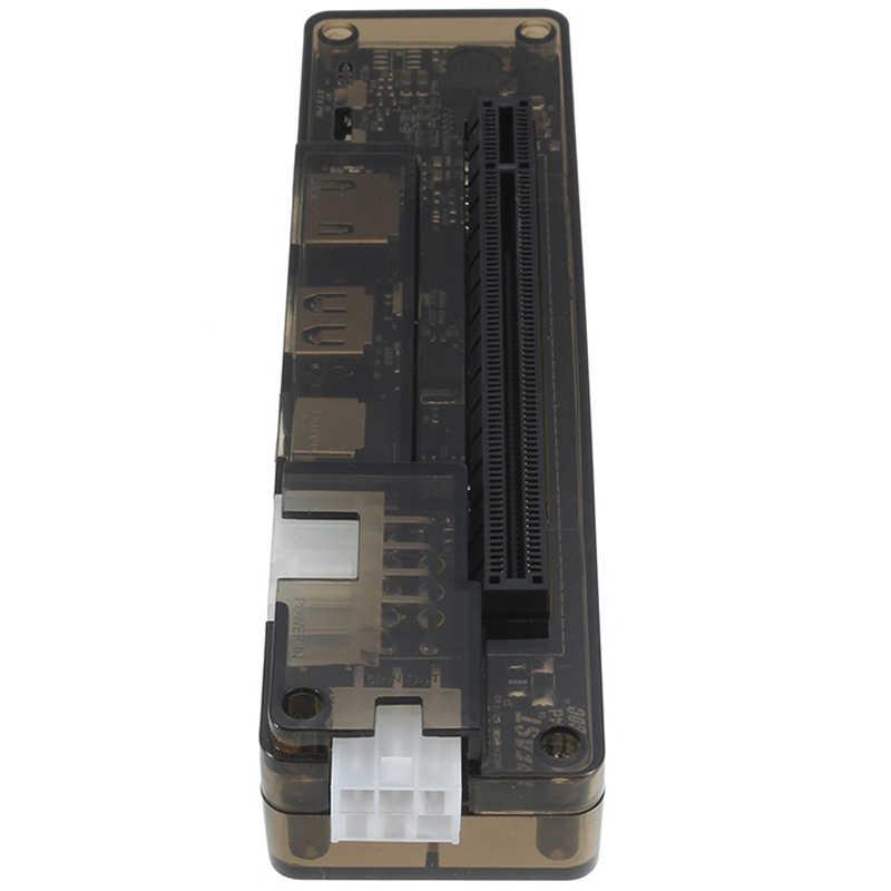 Novo pcie pci-e pci portátil externo placa de vídeo independente doca cartão expresso mini versão pci-e para v8.0 exp gdc