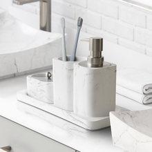 Набор аксессуаров для ванной комнаты инструменты мытья дозатор