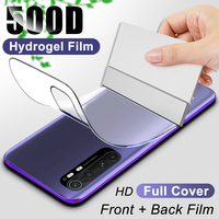 500D Screen Protector Hydrogel Film Für Xiaomi Redmi Hinweis 9 Pro Max 9 S 9A 8A 8 7 6 5 auf mi Hinweis 10 Lite 9 SE A1 A2 A3 Nicht Glas