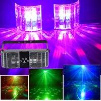 YSH Doppel Spiegel Laser Projektor Spezielle Effekte Bühnen Urlaub Lichter DMX Controller LED Misch Blinkt RGB Bunte Für Party
