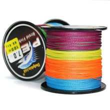 купить 100m Super Strong Multifilament Fishing Line Corrosion Resistant 8 Strands Braided PE Wire Tackle Accessories Durable дешево