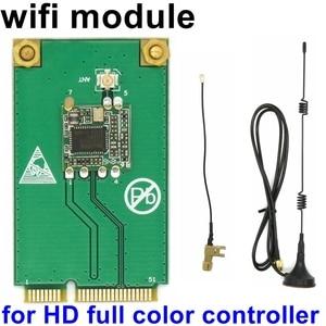 Image 1 - HD serisi tam renkli Led kontrol kartı Wifi modülü için özel HD C15 C15C C35C C35 D35 D15 Huidu video led denetleyici