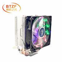 3 heatpipe CPU cooler para LGA 775 1150 1151 1155 1156 2011 CPU 9 centímetros fan Apoio Intel AMD