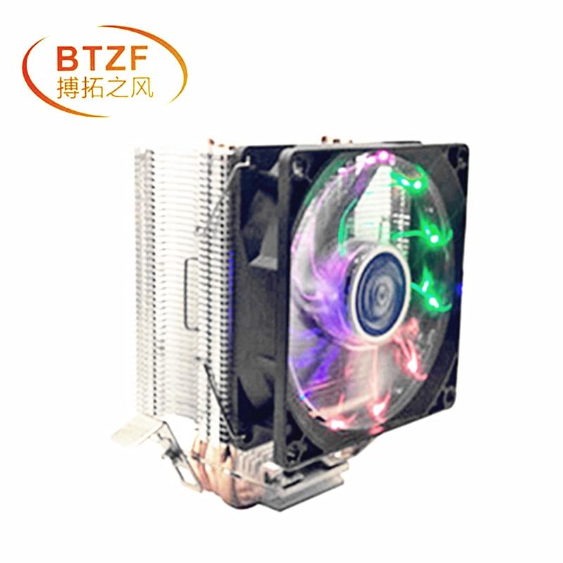 3 Heatpipe Cooling CPU Cooler For LGA 775 1150 1151 1155 1156 2011 CPU 9 Cm Fan Support Intel AMD