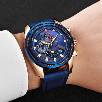 Men Watch 2019 LIGE Men's Quartz Wristwatches Male Clock Top Brand Luxury Reloj Hombres Leather Wrist Watches with Calendar top quality luxury men s natural wood watches black genuine leather band quartz watch male sports analog reloj de madera gift