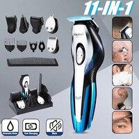 Kemei Cordless Hair Clipper men beard trimmer electric trimer shaver nose hair trimmer machine cut hair cutting machine 5