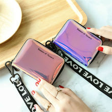 US $1.94 28% OFF|Women Colorful Makeup Laser Bag Mini Purse Wallet Holographic Clutch arrival Credit Card Holder-in Card & ID Holders from Luggage & Bags on AliExpress