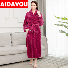 Womens Nightgowns Winter Coral Velvet Bathrobe Women Pajamas Flannel Warm Robe Sleepwear Robes  ouc304