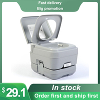 Commode Travel Potty Portable Toilet Compact Toilet With Built-In Pour Spout And Washing Sprayer For Outdoor Camping RV Boat