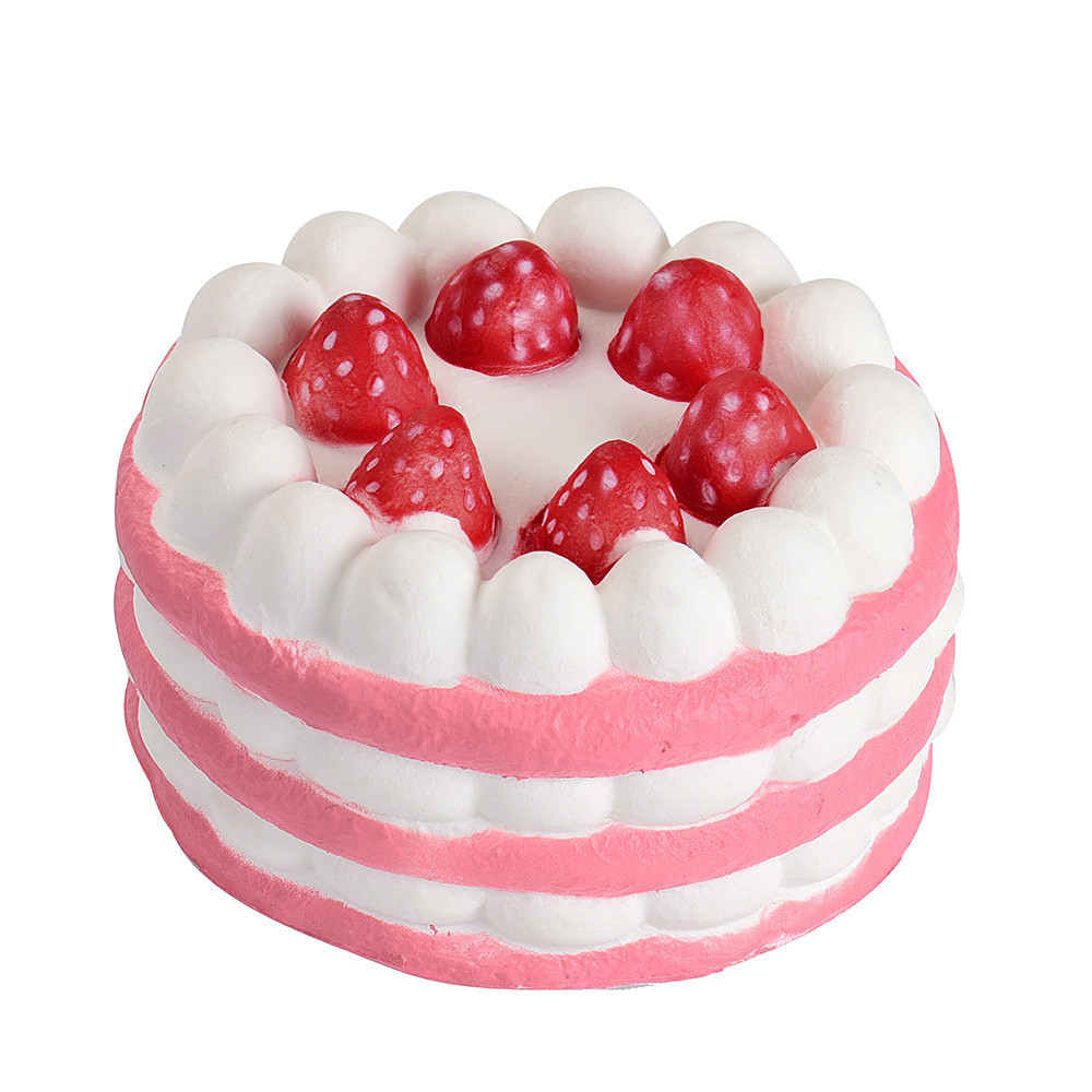 2018 Cute Strawberry Cake Kid Toys Squishy Squeeze Toy Slow Rising Relieves Stress Toys