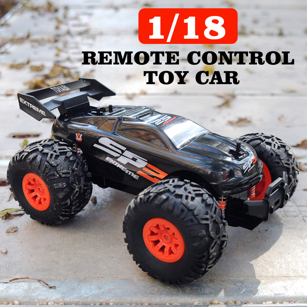RC Car 2.4G 1/18 15KM/H High Speed Remote Control Car Monster Truck Oversize Tires Bigfoot RC Car RTR Toys For Children Gifts