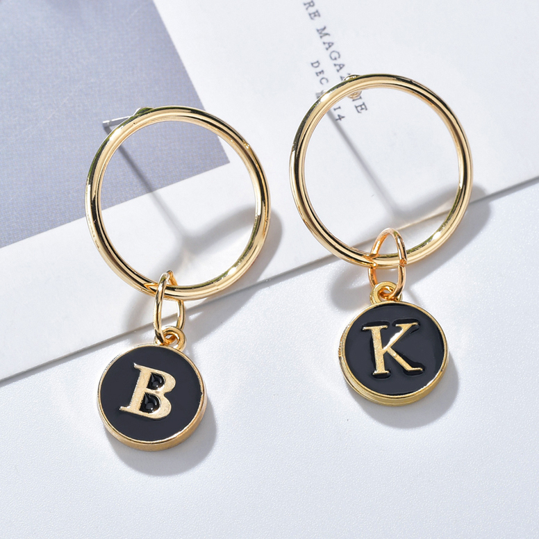 Earrings Jewelry Alphabet Bridesmaids Initial Everyday Tassel Letter Fashion Cute Gift