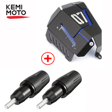 KEMiMOTO For Yamaha MT07 FZ07 Coolant Recovery Tank Shielding Cover Engine Frame Sliders MT-07 FZ-07 MT 07 FZ 2017 2018 2019