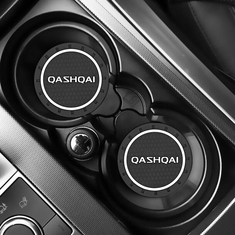 2pcs Car Auto Water Cup Slot Non-Slip Mat for NISSAN QASHQAI J10 J11 2011 2008 2018 2019 Accessories Car Styling