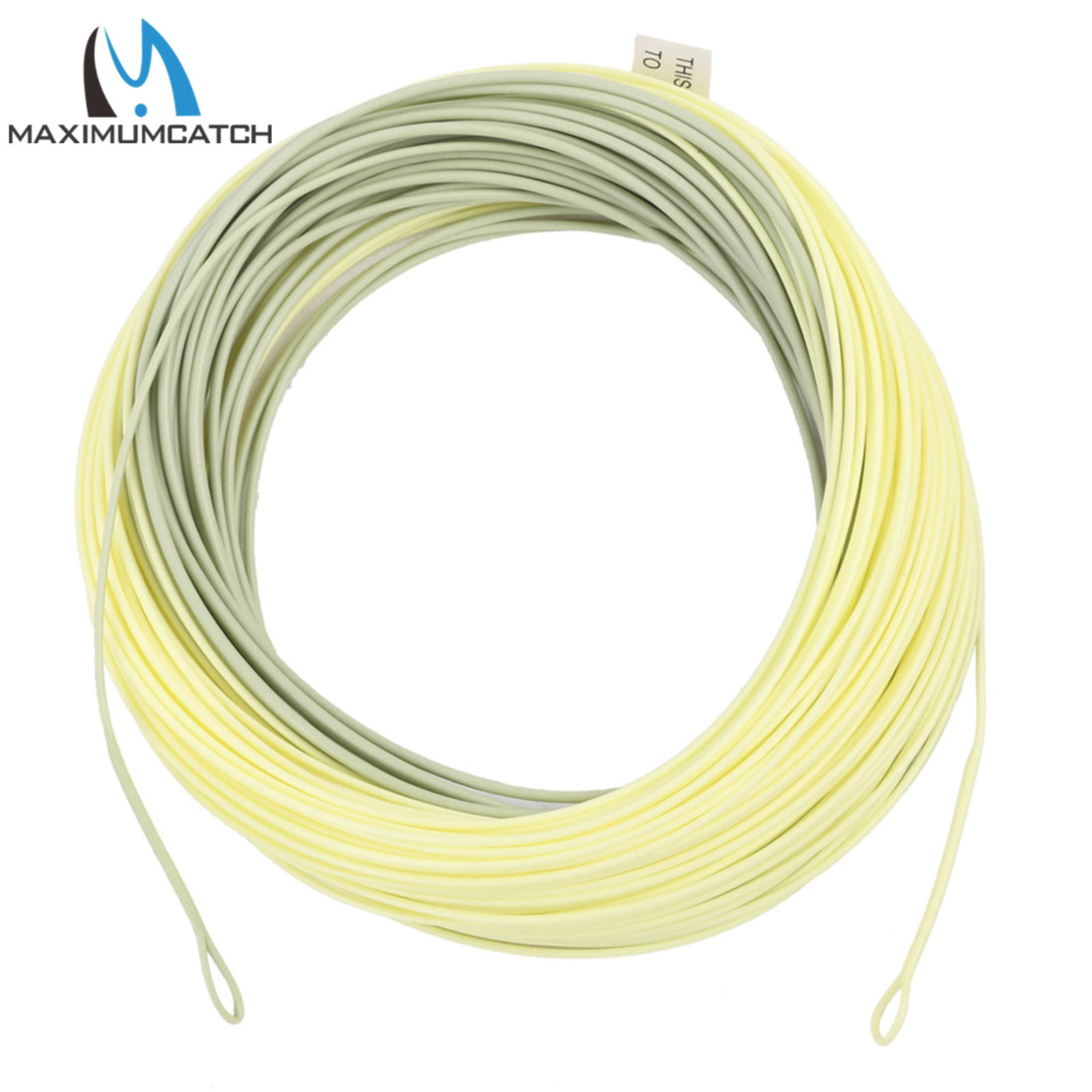 Maximumcatch Outbound Short Fly Fishing Line 8/9/10wt 100FT Moss/Lvory Color Weight Forward Fly Line With 2 Welded Loops