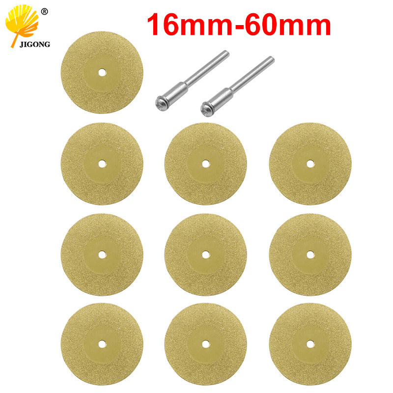 12pcs 1set 16-60mm Diamond Wheel Saw Circular Cutting Blade Rotary Tool Titanium Plated Diamond Cutting Blade