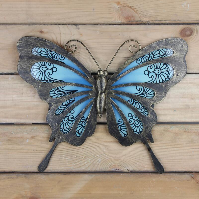 Garden Butterfly of Wall Artwork for Home and Outdoor Decorations Statues Miniatures Sculptures 2
