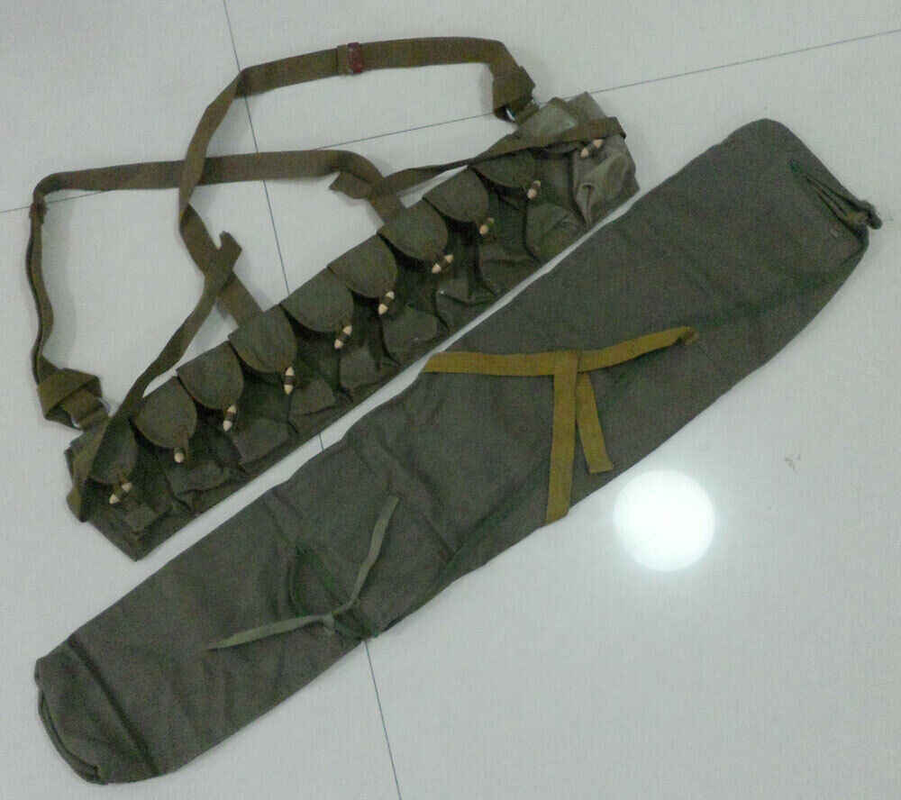 Tomwang2012. Set Originele Militaire Overschot Chinese Leger Type 56 Sks Rifle Bag Cover Pack Sks Ammo Pouch Borst Rig