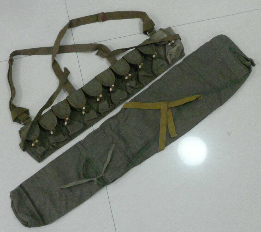 tomwang2012. SET ORIGINAL Military Surplus Chinese Army Type 56 SKS Rifle Bag Cover Pack SKS Ammo Pouch Chest Rig(China)