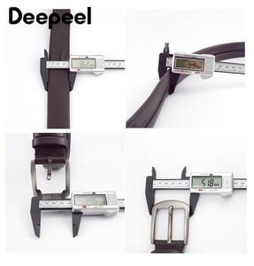 Image 3 - Deepeel 1pc 110 130cm שכבה הראשונה עור פרה גברים חגורת זכר מעצב רוכסן חגורות חידוש יוקרה קישוט החגורה יכול לשים כסף