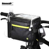 Pantalla táctil frontal de bicicleta rinowalk bolsa de 7 pulgadas impermeable 4.5L bolsa de la Cámara bolso del teléfono del manillar bolso de la Cámara impermeable