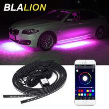 Auto Flexible Underglow Streifen Licht LED Unterboden Remote /APP Control RGB LED Neon Lichter Auto Dekorative Umgebungs Atmosphäre Lampe