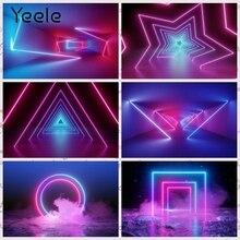 Yeele خلفية بخطوط ضوئية ليزر ، خلفية مسرح حفلات رقص ، تصوير رائع ، مخصص لاستوديوهات الصور