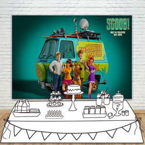 Fondo de perro Scooby Doo para fotografía comedia aventura foto de fondo para niños 1ª decoraciones para fiesta de cumpleaños sesión fotográfica