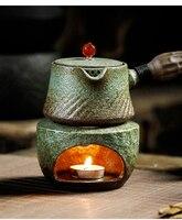 Kochen Teekanne Set Tee Feuer Öfen Brennen Keramik Tasse Grün China Tee Zeremonie Tee Kunst Gongfu Werkzeug Wärmer Teekannen-in Teeofen aus Heim und Garten bei