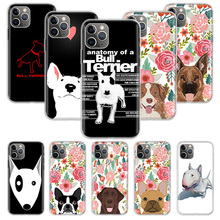 Bull Terrier Dog Puppies Phone Case For Apple iPhone 7 8 Plus 11 Pro 10 X XS XR 6 6S 5 5S SE Max Soft Clear Silicone yimaoc hailee steinfeld ross soft silicone case for apple iphone 11 pro xr xs max x 10 8 plus 7 6s 6 plus se 5s 5 7plus 8plus