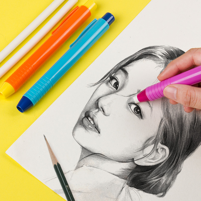 Faber-Castell Mechanical Eraser Pencil Professional Design Drawing Sketch Rubber Creative Art Stationery Kawaii Office Supplies