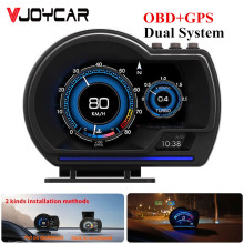 VJOYCAR HUD V60 OBD2 GPS Head Up display Auto Hud Tacho KMH/MPH Auf-board Computer 9 Interface öl Verbrauch Wasser Temp