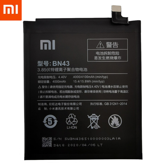 Original XiaoMi Replacement Battery For Xiaomi Mi Redmi Note Mix 2 3 3S 3X 4 4X 4A 4C 5 5A 5S 5X M5 6 6A 7 8 Pro Plus batteries 2
