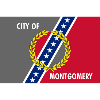 Montgomery Flag Yehoy hanging 90*150cm USA Alabama For Decoration image
