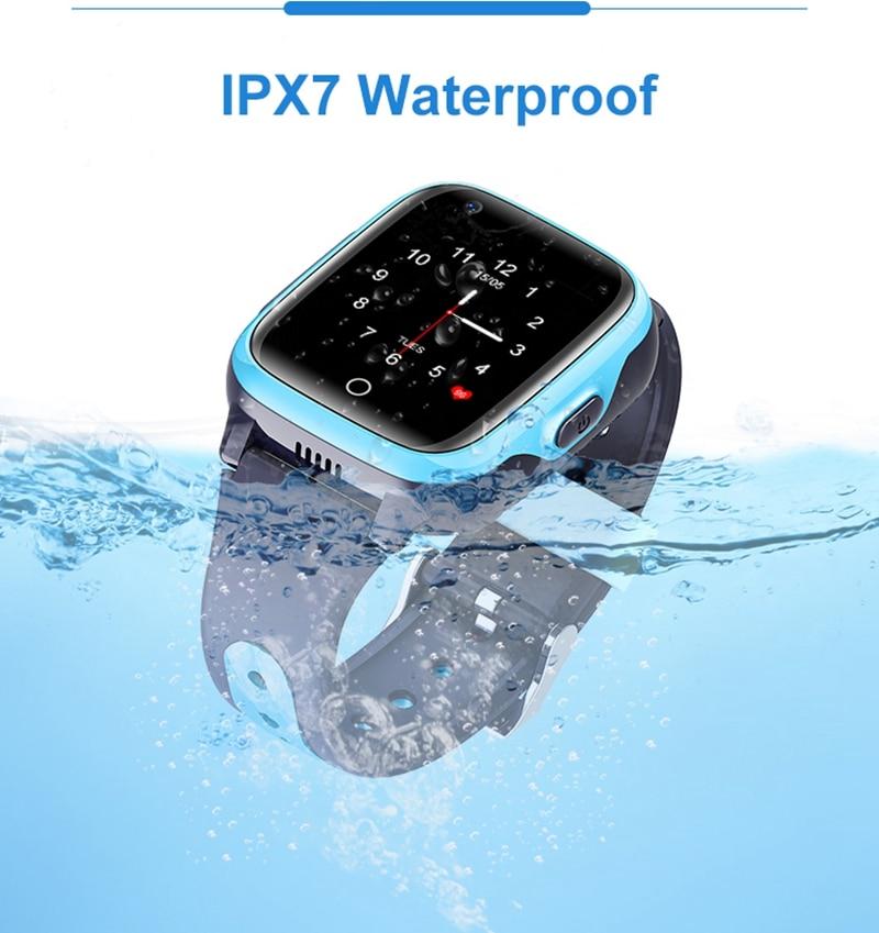 Intelligens órák gyerekeknek 4G HD videohívás GPS Smart-Watch baba vízálló kamera SOS elveszett kereső óra születésnapi ajándék (4)