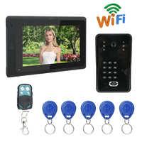 Wired Smart WiFi Video Doorbell Peephole Camera LCD Screen Intercome Remote APP Password ID Rainproof Night Vision Doorphone
