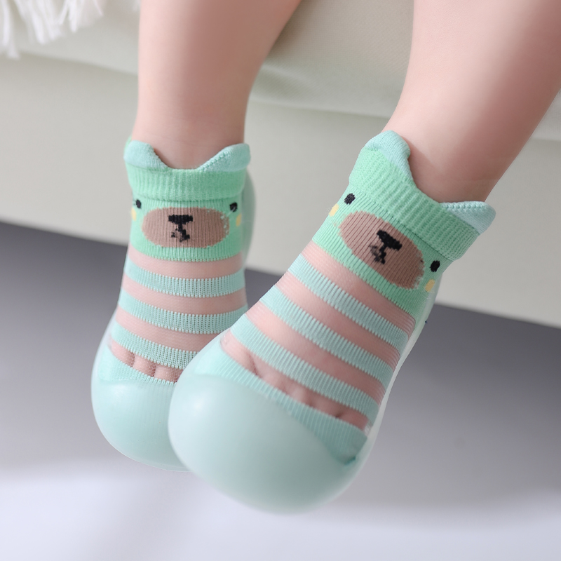 Baby Sock Shoes Summer Cute Animal Style Baby Home Non-slip Floor Socks Soft Rubber Bottom Baby Toddler Shoes