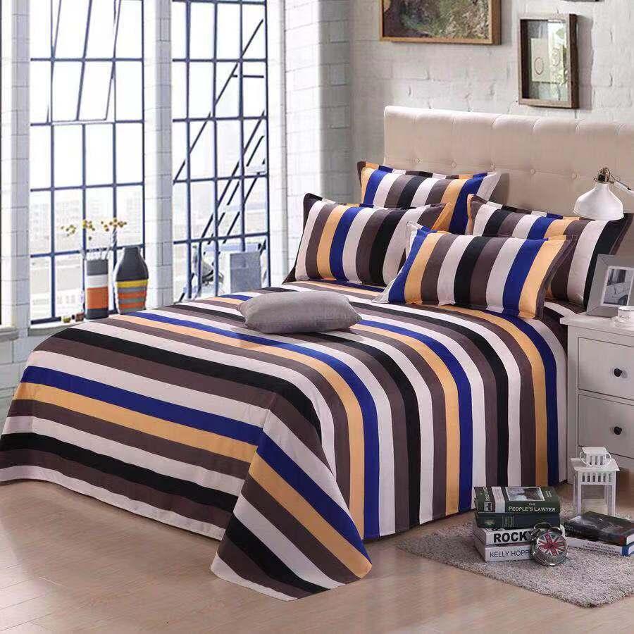 Folha de cama + fronha decoração marca 100% algodão lençóis casa têxtil para folha cama novo padrão protetor cama coverlet