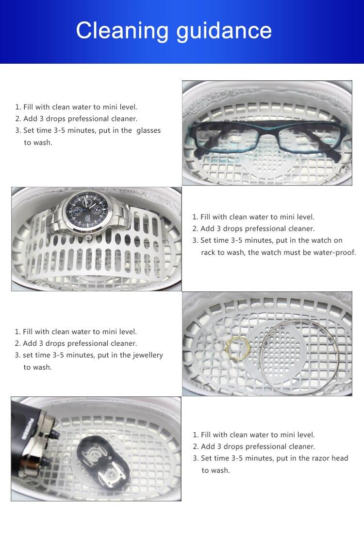 de manicure ultra sônico limpeza jóias óculos