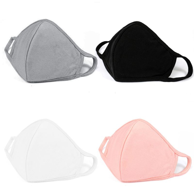 10Pcs Cotton Mouth Mask With Stretchable Elastic Ear Loop Anti Dust Pollution Washable PM2.5 Face Mask Reusable