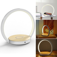 Newly Folding Bedside LED Night Light with 10W Wireless Charger Fast Charging Bed Light VA88