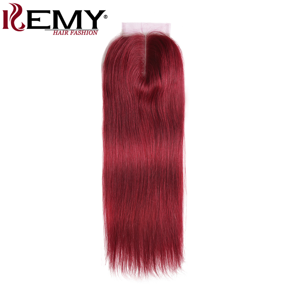 99J Burgundy Human Hair Bundles With Closure 4x4 Red Color Brazilian Straight Hair Weave Bundles With 99J/Burgundy Human Hair Bundles With Closure 4x4 Red Color Brazilian Straight Hair Weave Bundles With Closure Non-Remy Hair KEMY