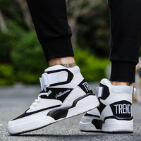 Men High Top fashion Sneakers Men's Vulcanized Shoes Trend Comfortable Men Casual Shoes Outdoor Non slip Shoes tenis masculino