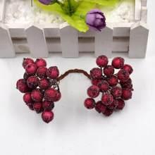 40 шт., Рождественская мини-гирлянда из матовых фруктов, искусственные ягоды Холли, яркая домашняя гирлянда, декоративная на Рождество