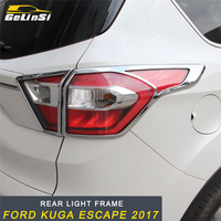 GELINSI Rear Light Frame Cover Trim Frame Sticker Exterior Accessories for Ford KUGA Escape 2017 2018