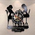 Индивидуальный спа-салон, настенный знак, Настенный декор, маникюрный салон, персонализированное имя, виниловая запись, настенные часы, мод...