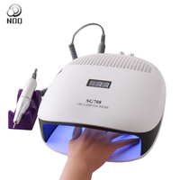 Nail Dryer LED UV Lamp For Nails Max72W Vacuum Cleaner For Manicure Dust Collector Remover Polishing Drill Machine 36 Leds