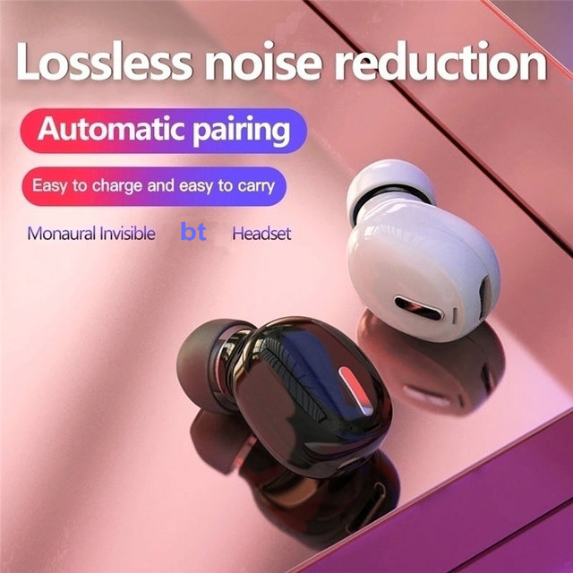 Mini In Ear 5.0 Invisible Wireless Bluetooth Headset Single Ear Wireless Earphone Bluetooth Headphone Handsfree Stereo Headset|Earphones|   -